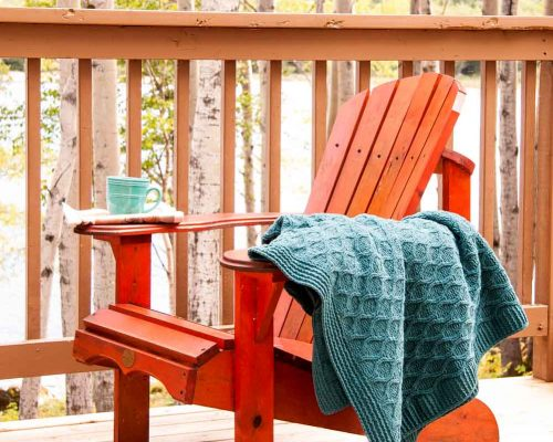 Cozy chair on the deck